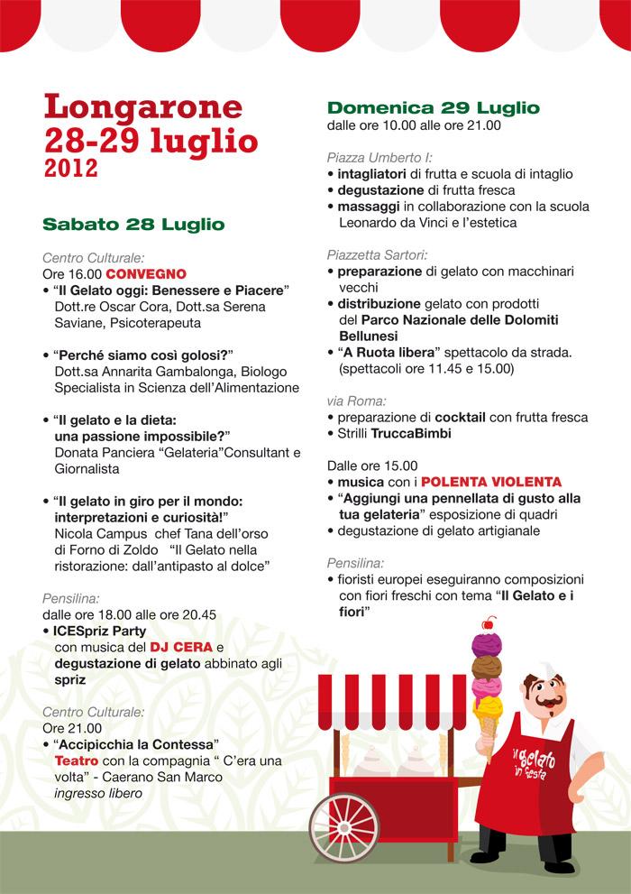 iL GELATO IN Festa - longarone programma pagina 1