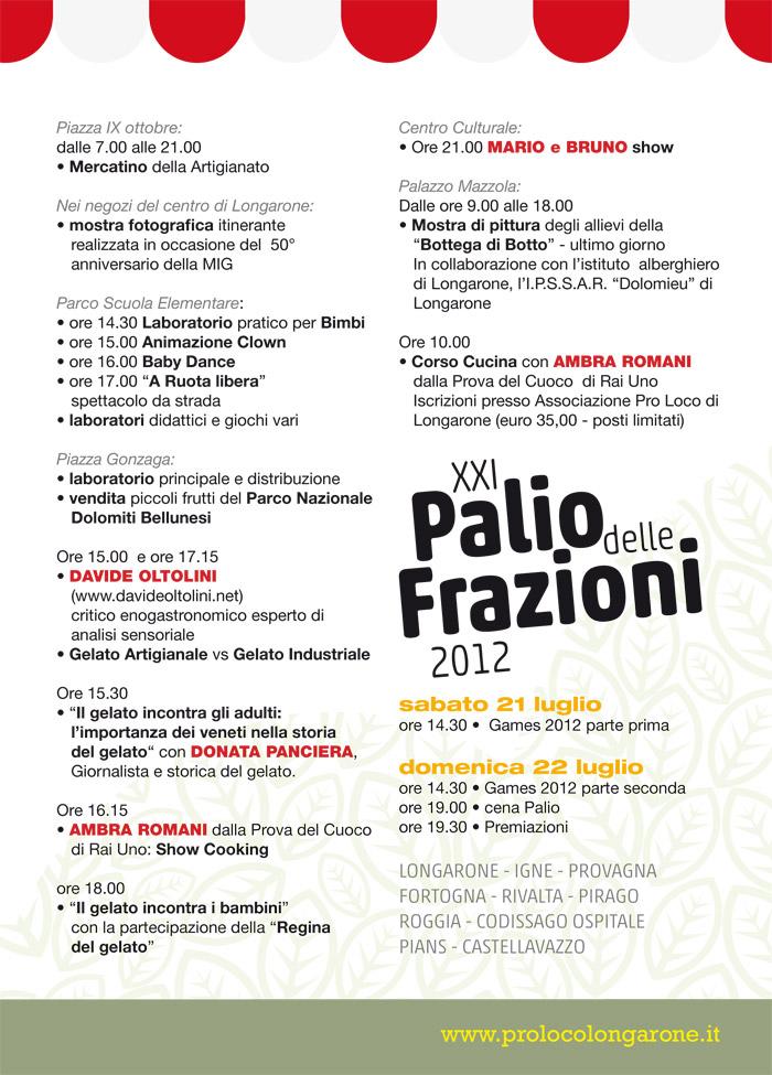 iL GELATO IN Festa - longarone programma pagina 2