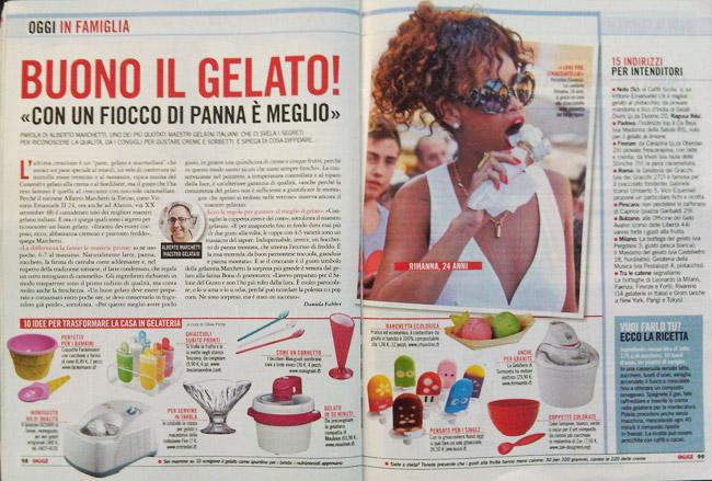settimanale oggi buono il gelato 2012