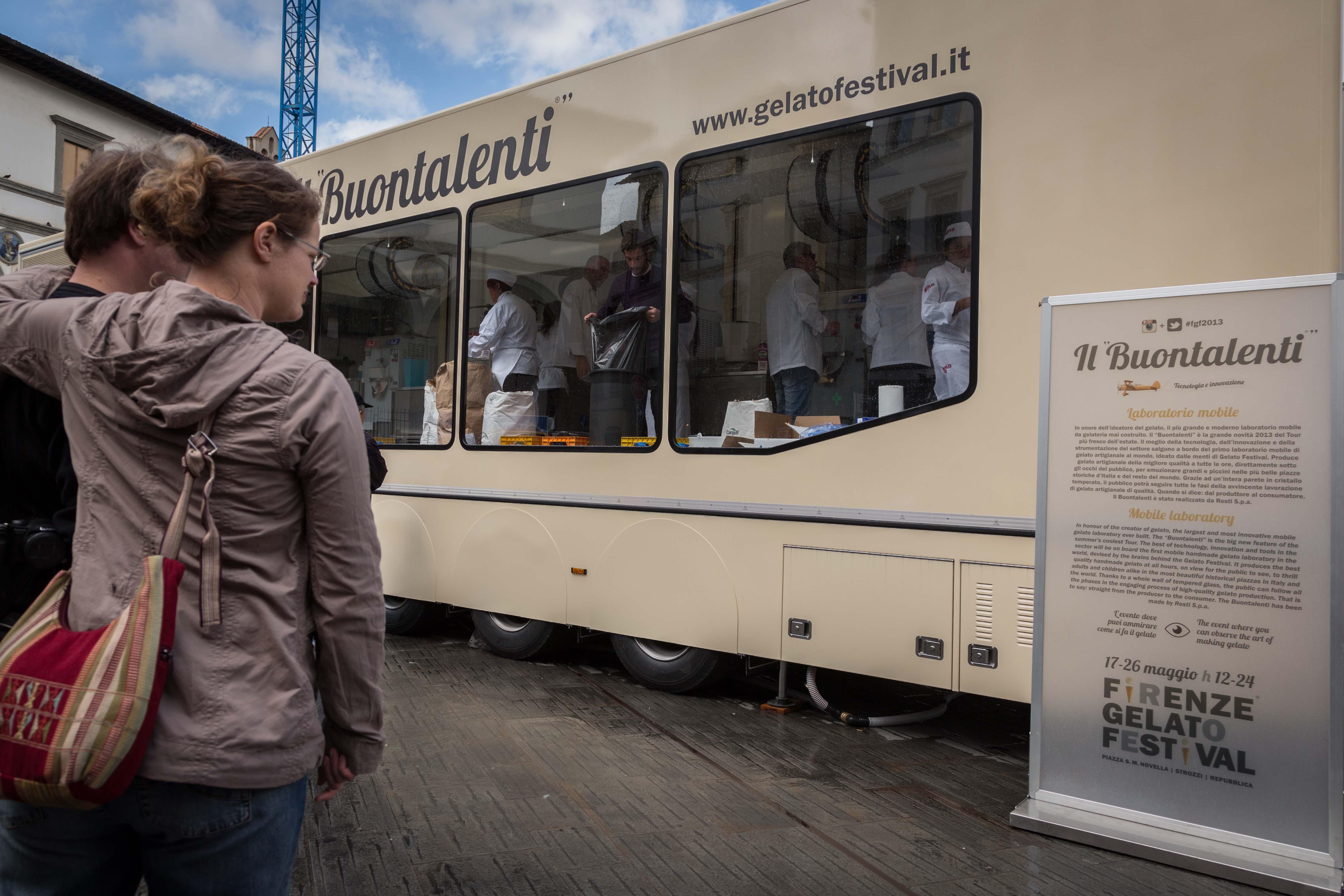 il laboratorio mobile di gelateria Buontalenti